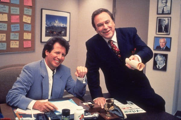 "Mr. Torn with Garry Shandling in an episode of the HBO series ""The Larry Sanders Show,"" one of the most acclaimed television comedies of the 1990s. Mr. Torn's performance as Artie, the gruff producer of a late-night talk show, brought him six Emmy Award nominations."