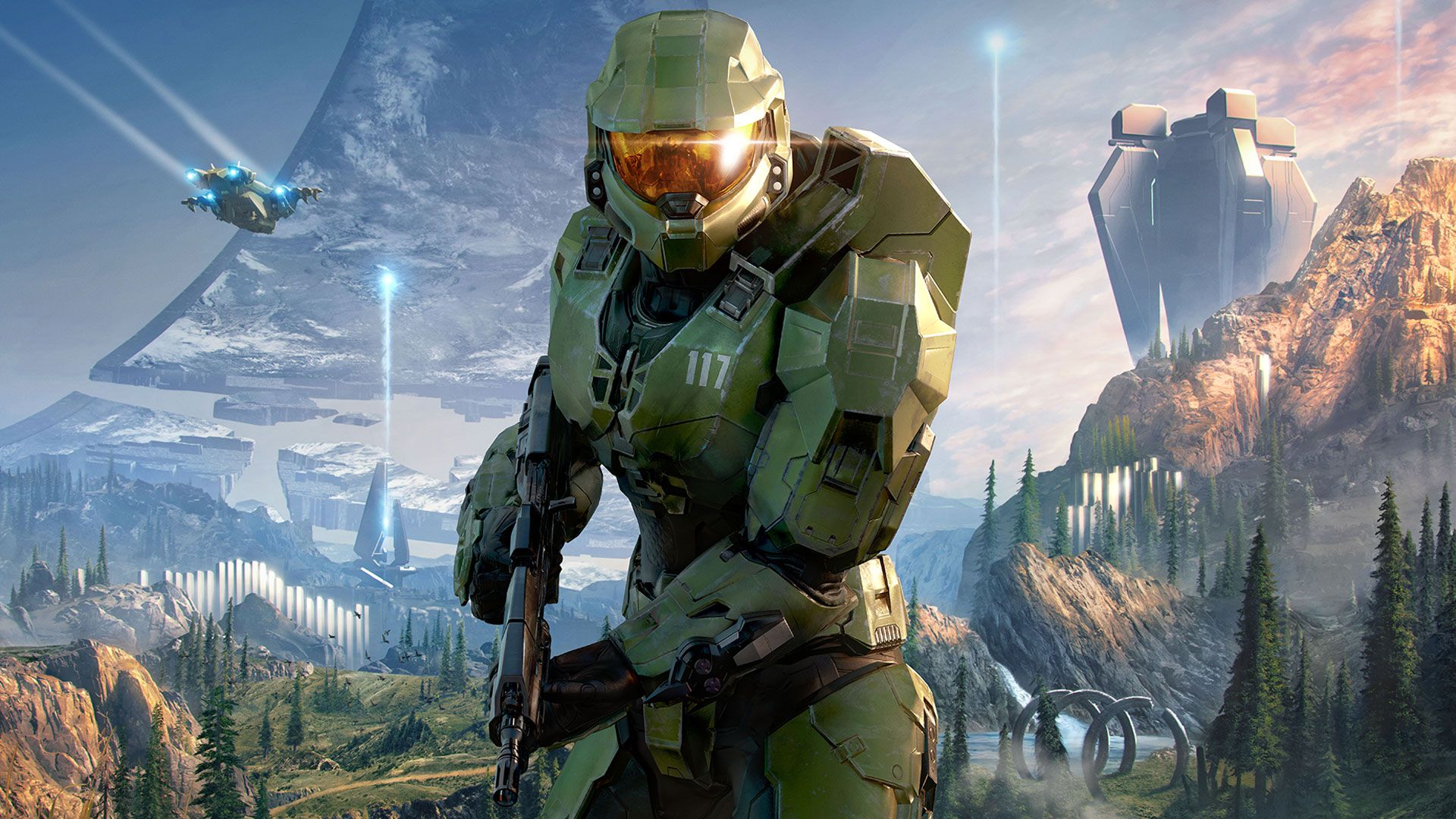 Halo TV show marks return to filming with first look at Master Chief helmet  | GamesRadar+