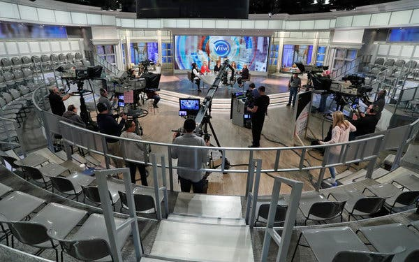 """The View"" taped without a studio audience on Wednesday because of concerns over the coronavirus."