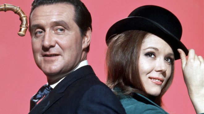 Patrick Macnee and Diana Rigg in The Avengers
