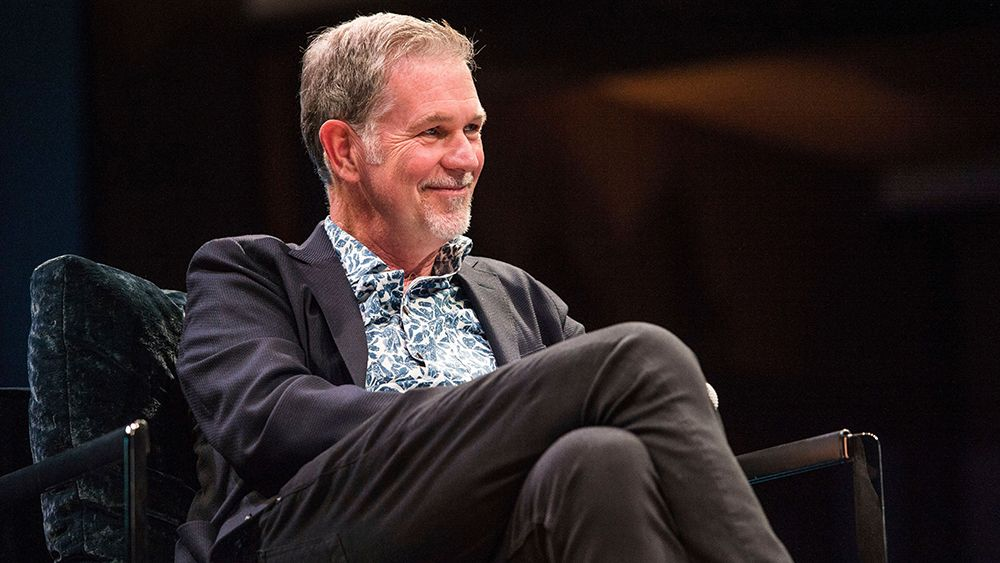 Reed Hastings seen on day one of Summit LA17 in Downtown Los Angeles's Historic Broadway Theater District, in Los AngelesSummit LA17, Los Angeles, USA - 03 Nov 2017