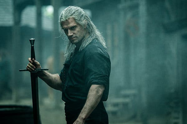 "Henry Cavill in a new Netflix series, ""The Witcher."""
