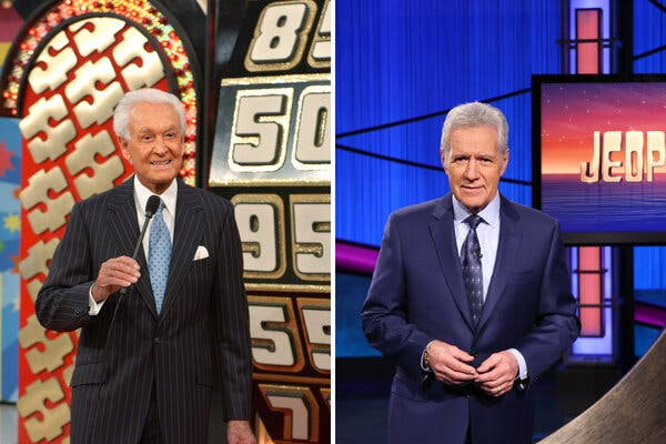 """Replacing longtime hosts like Bob Barker, left, on """"The Price Is Right"""" and Alex Trebek on """"Jeopardy!"""" can be a fraught decision."""