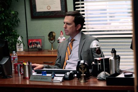 """THE OFFICE -- """"Jury Duty"""" Episode 813 -- Pictured: Ed Helms as Andy Bernard  (Photo by Chris Haston/NBCU Photo Bank/NBCUniversal via Getty Images via Getty Images)"""