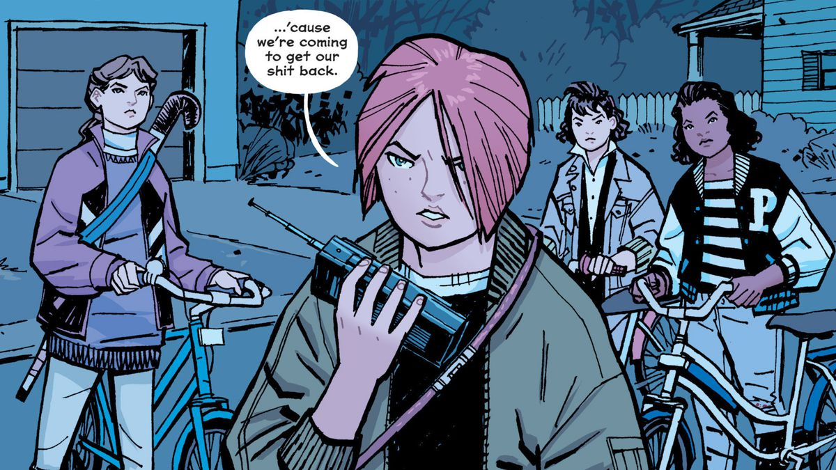 From Paper Girls, Image Comics (2016).