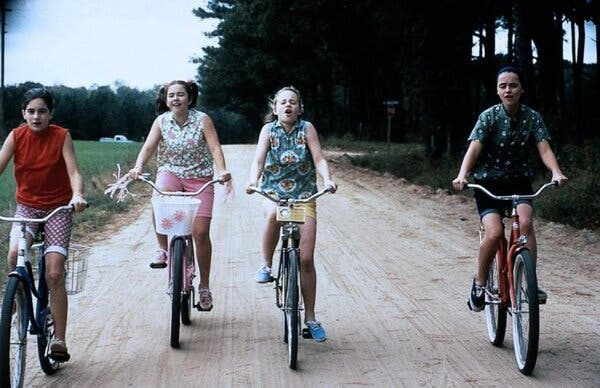 """From left, Gaby Hoffmann, Ashleigh Aston Moore, Thora Birch and Christina Ricci, who play friends at a transitional time in their lives in """"Now and Then."""""""